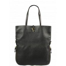 Italská kožená kabelka Luana Nera