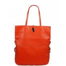 Italská kožená kabelka Luana Arancione