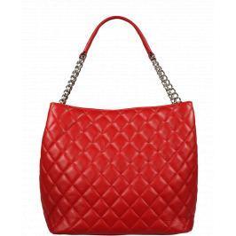 Červená kožená kabelka Emma Rosso Argento