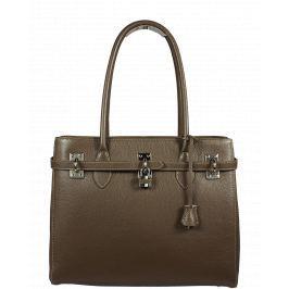 Italská kožená kabelka Azra Grande Marrone