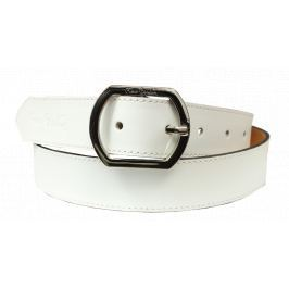 Kožený pásek Pierre Cardin 8017 Bianco Velikost pásku: 110 cm