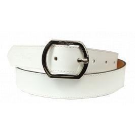 Kožený pásek Pierre Cardin 8017 Bianco Velikost pásku: 100 cm
