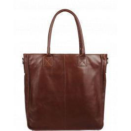 Italská kožená kabelka Fausta Marrone