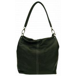 Černá kožená kabelka Fiora Nera
