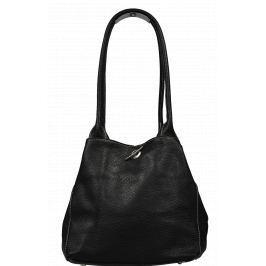 Oboustranná kožená kabelka Irmina Nera Barva vnitřku: šedá