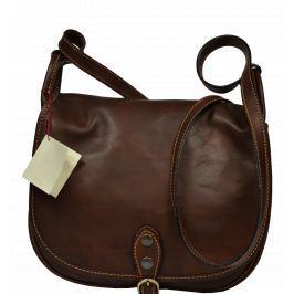 Kožená kabelka Caccia Marrone