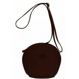 Hnědá kožená kabelka Pelletteria Marrone