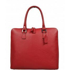 Červená kabelka z kůže Joanna Rossa