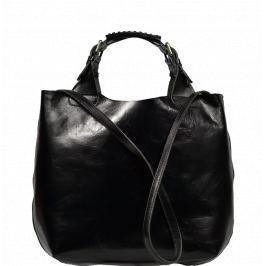 Černé kožené kabelky Elizabeth Nera