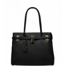 Černá kožená kabelka Azra Grande Nera