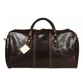 Velká cestovní kožená taška Brunilde Cafe