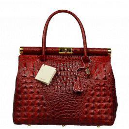 Červené krokodýlí kabelky do ruky Laureta Rossa Cocco
