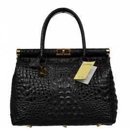 Kožená kabelka do ruky Laureta Nera Cocco 2