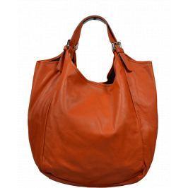 Kožená kabelka Adelaide Arancione