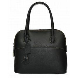 Černá kožená kabelka Intorna Nera