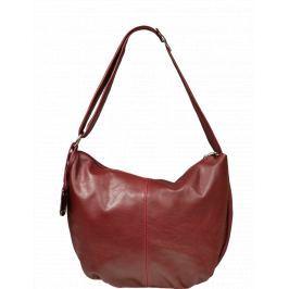 Červená kožená kabelka Gondola Bordo