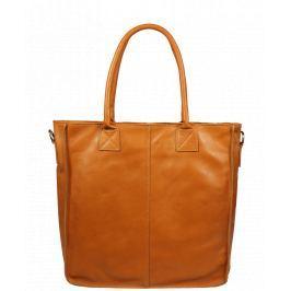 Italská kožená kabelka Fausta Camel