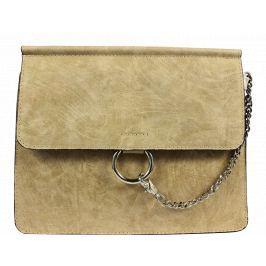 Béžová kožená kabelka Pierre Cardin 1538 Sfera Beige