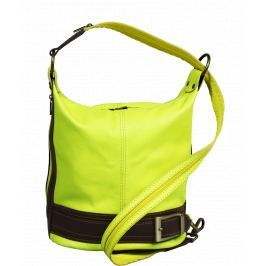 Kožená kabelka crossbody Adele Gialla Fluorescenza