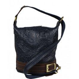 Kožená kabelka crossbody Adele Stampa Blu