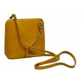 Malé kožené žluté kabelky Grana Gialla