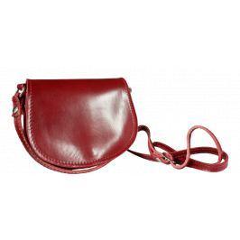 Kožená kabelka z Itálie Mina Rossa Scuro