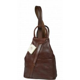 Kožený batůžek Mea Marrone
