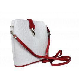 Dámská kabelka kabelka Fibbia Bianca Rossa