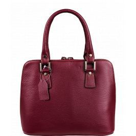Fialové kožené kabelky do ruky Stella Viola