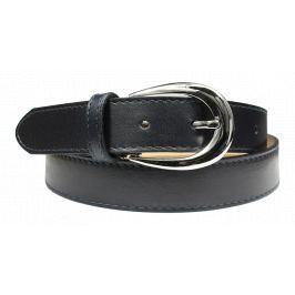 Kožený pásek Cintura Blu Scura Secondo Velikost pásku: 80 cm