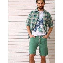 Top Secret Košile pánská zelená kostičkovaná dlouhý rukáv