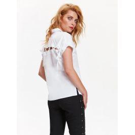 Top Secret Košile dámská bílá se šněrováním na zadním díle a krátkým rukávem