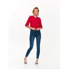 Top Secret Košile dámská červená bez límečku