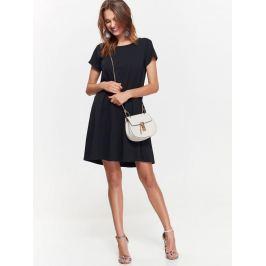 Top Secret šaty dámské černé se zdobeným zadním dílem a krátkým rukávem