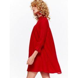 Top Secret šaty dámské červené s 3/4 rukávem