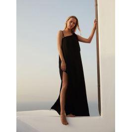 Top Secret šaty dámské černé dlouhé