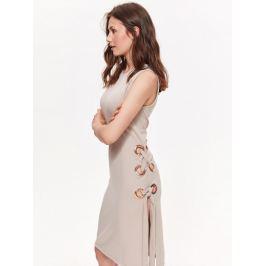 Detail zboží · Top Secret šaty dámské béžové bez rukávu s kroužky na boku ab643b3b37