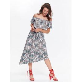 Top Secret šaty dámské dlouhé vzorované s odhalenými rameny