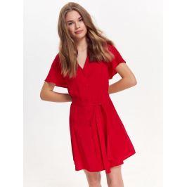 Top Secret šaty dámské červené s knoflíky