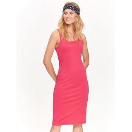 Top Secret šaty dámské růžové MIDI bez rukávu